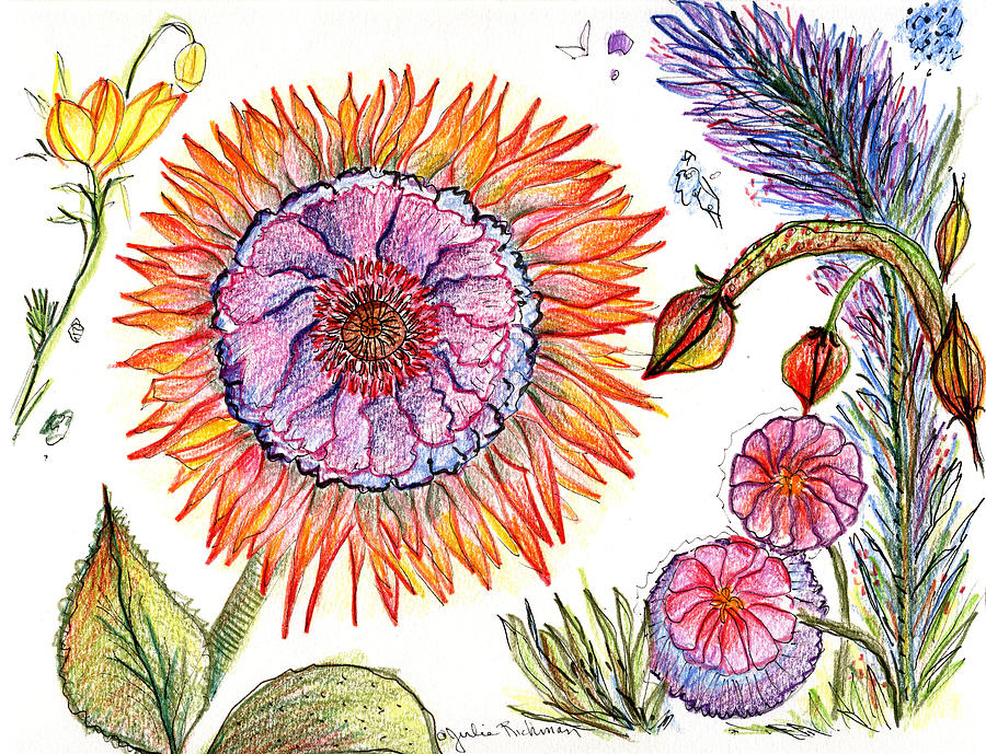 Botanical Flower-50 Painting by Julie Richman