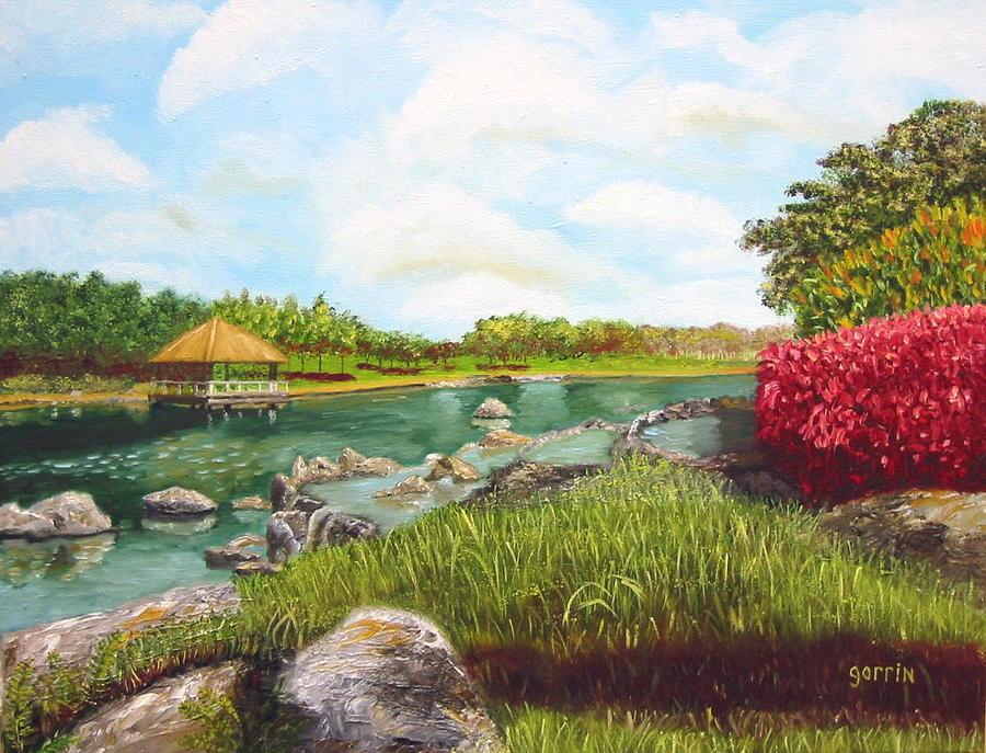 Landscape Painting - Botanical Garden Of Havana by Roger E Gorrin