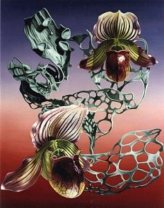 Orchids Painting - Botanical Grammar by Gary Brewer