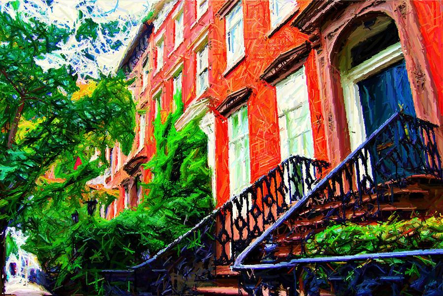 Greenwich Village Photograph - Botanical Village Sketch by Randy Aveille