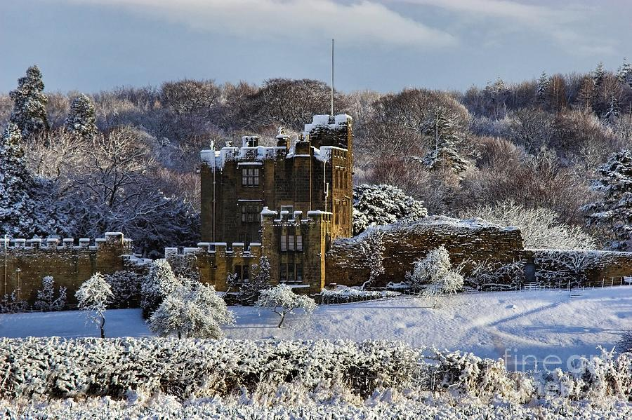Bothal Castle in Winter by Les Bell