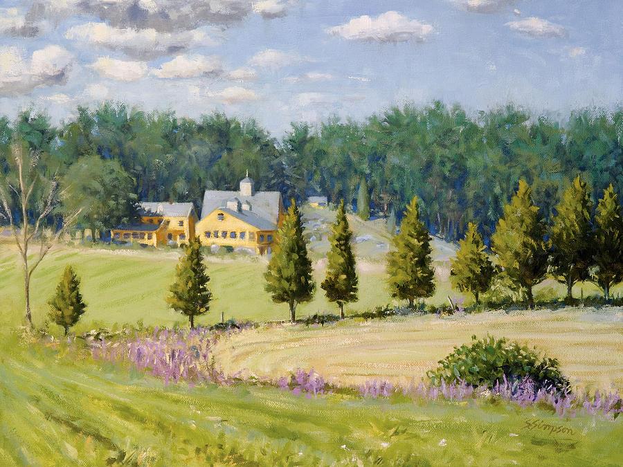 Farm Painting - Bothways Farm by Steven A Simpson