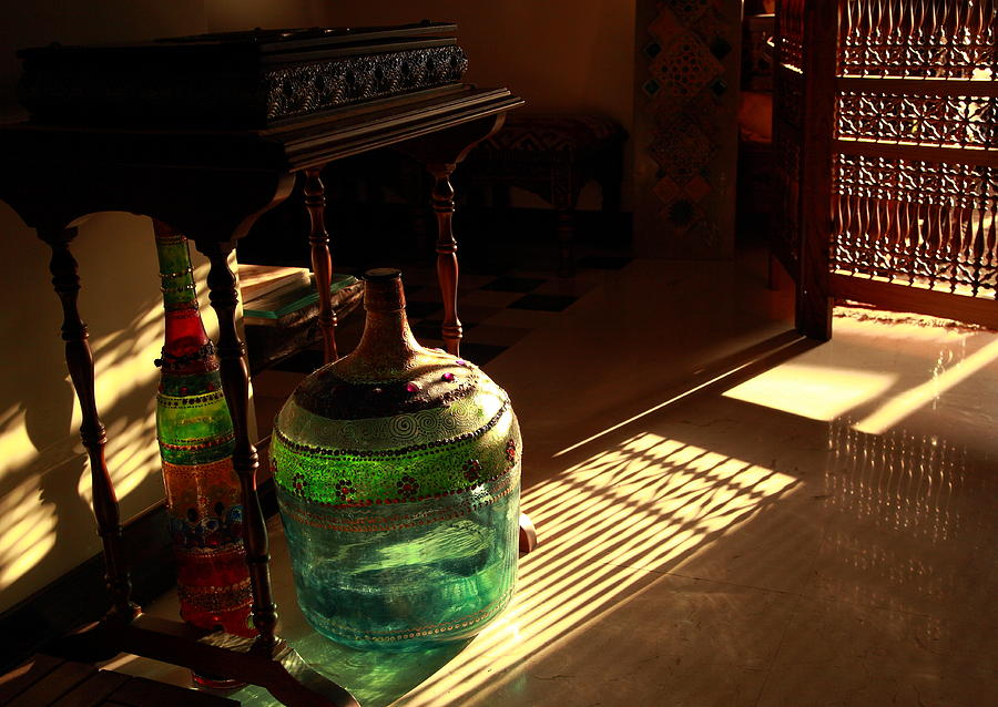 Bottle Photograph - Bottle And Light by Murtaza Humayun Saeed