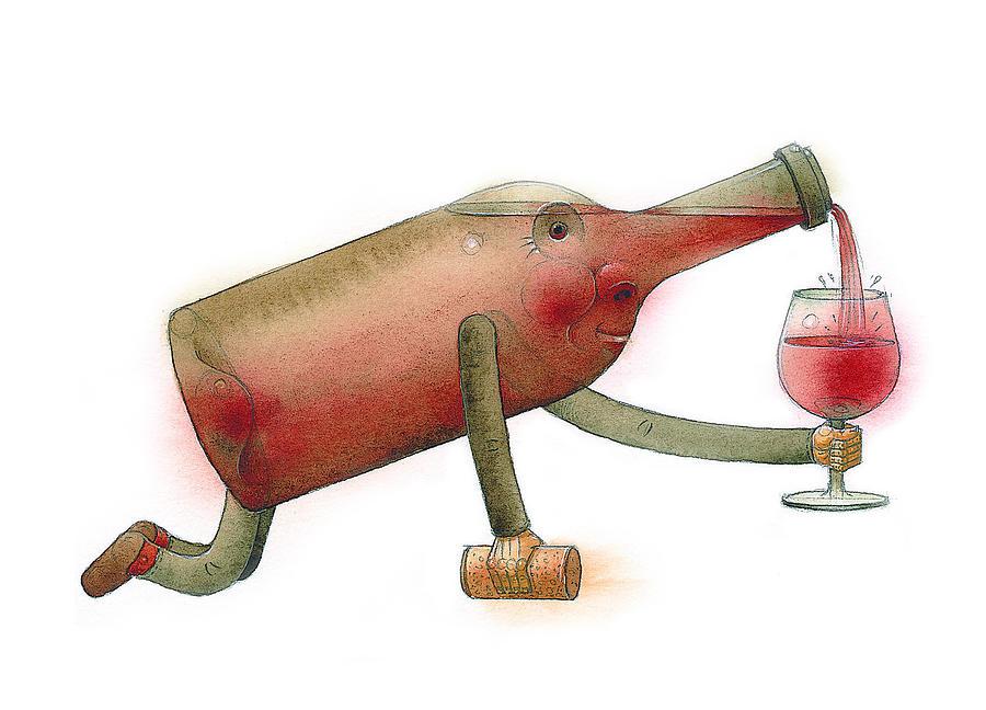 Bottle Painting - Bottle by Kestutis Kasparavicius