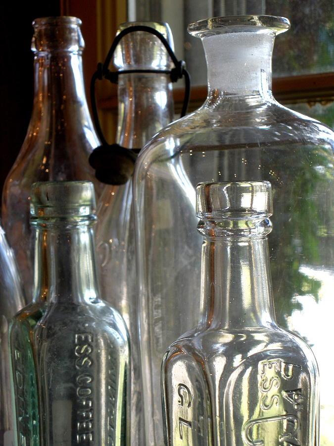 Glass Photograph - Bottle Necks by Richard Mansfield