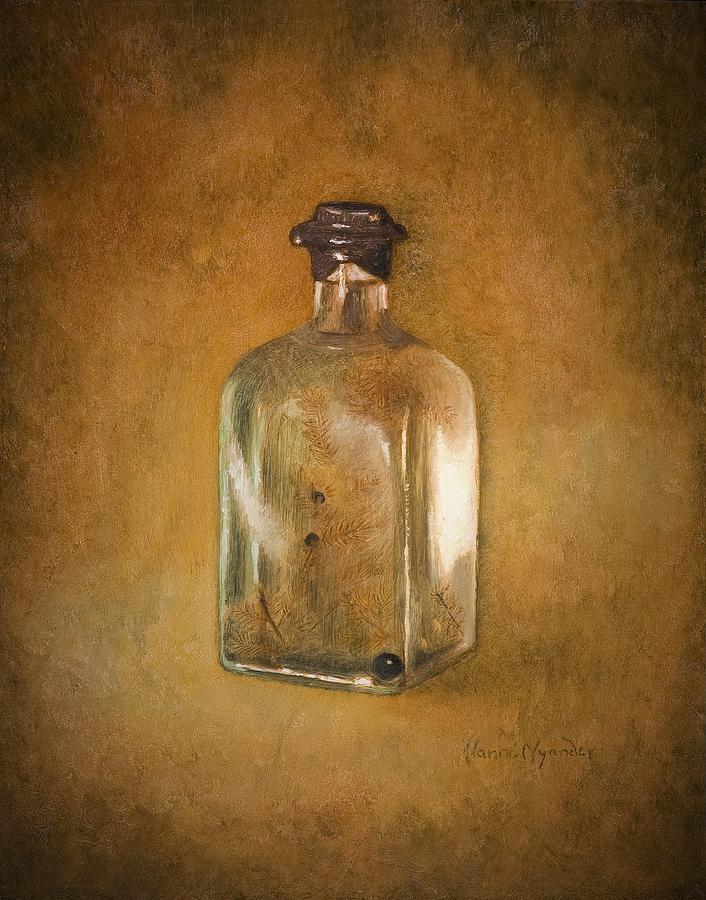 Still Life Painting - Bottle Of Light by Nanne Nyander