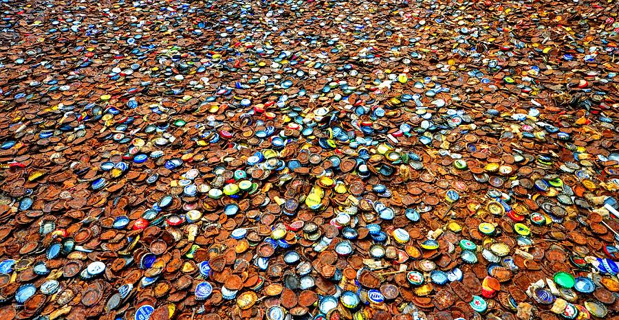College Station Photograph - Bottlecap Alley by David Morefield