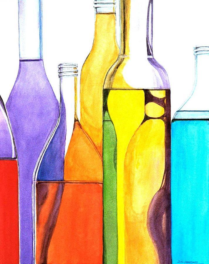 Bottle Painting - Bottled Rainbow 1 by Jun Jamosmos
