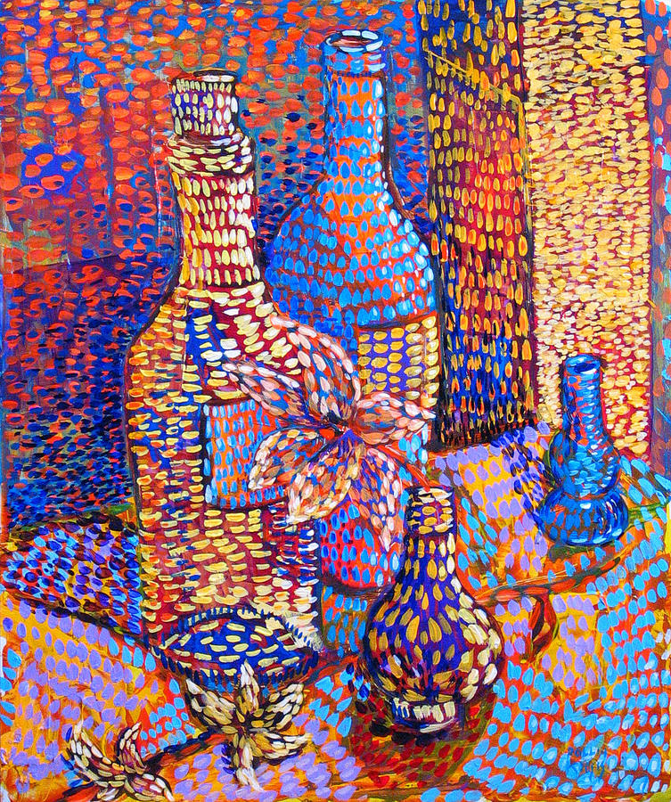 Still Life Painting - Bottles And Vases by Rollin Kocsis