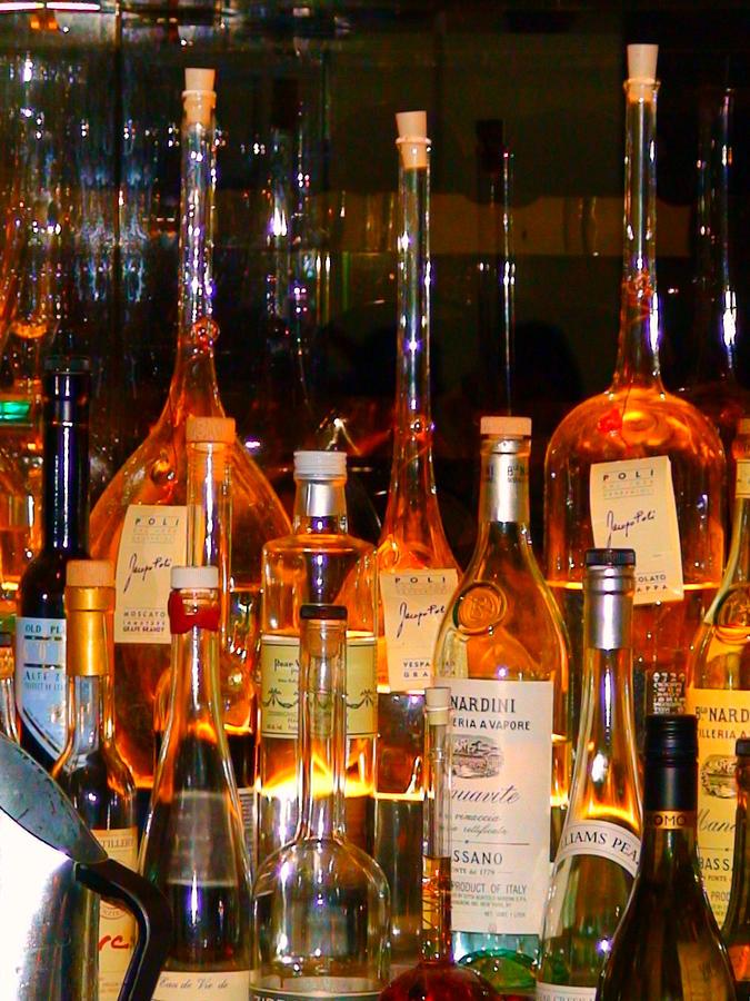 Bar Photograph - Bottles At The Modern by Angela Annas