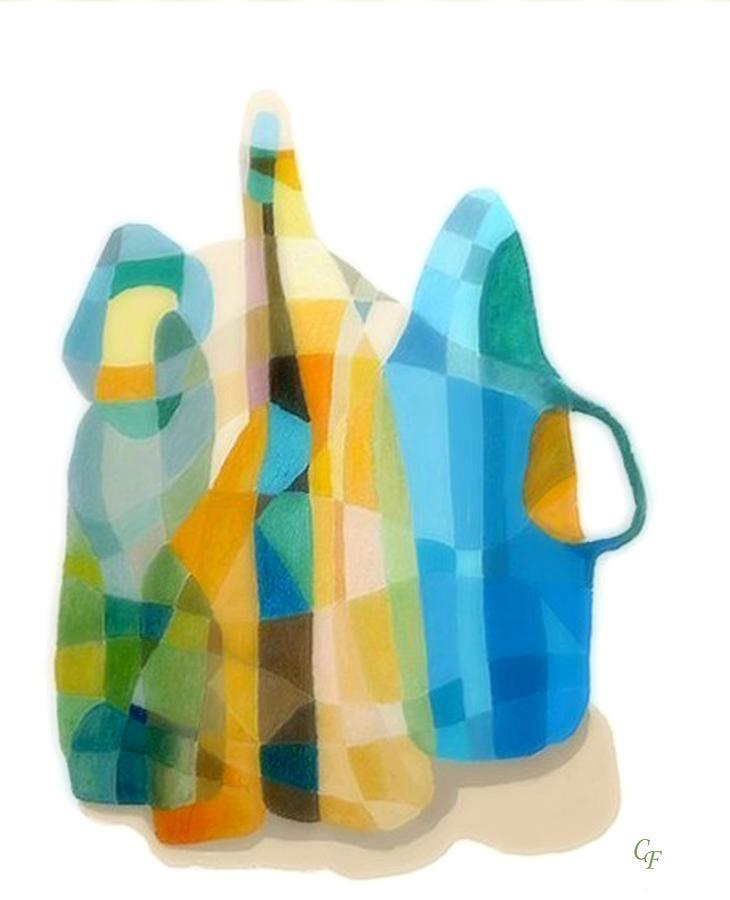 Still Life Painting Painting - Bottles Still Life by Carola Ann-Margret Forsberg