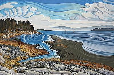 Bottom Of Comox Hill Painting by Bev Byerley
