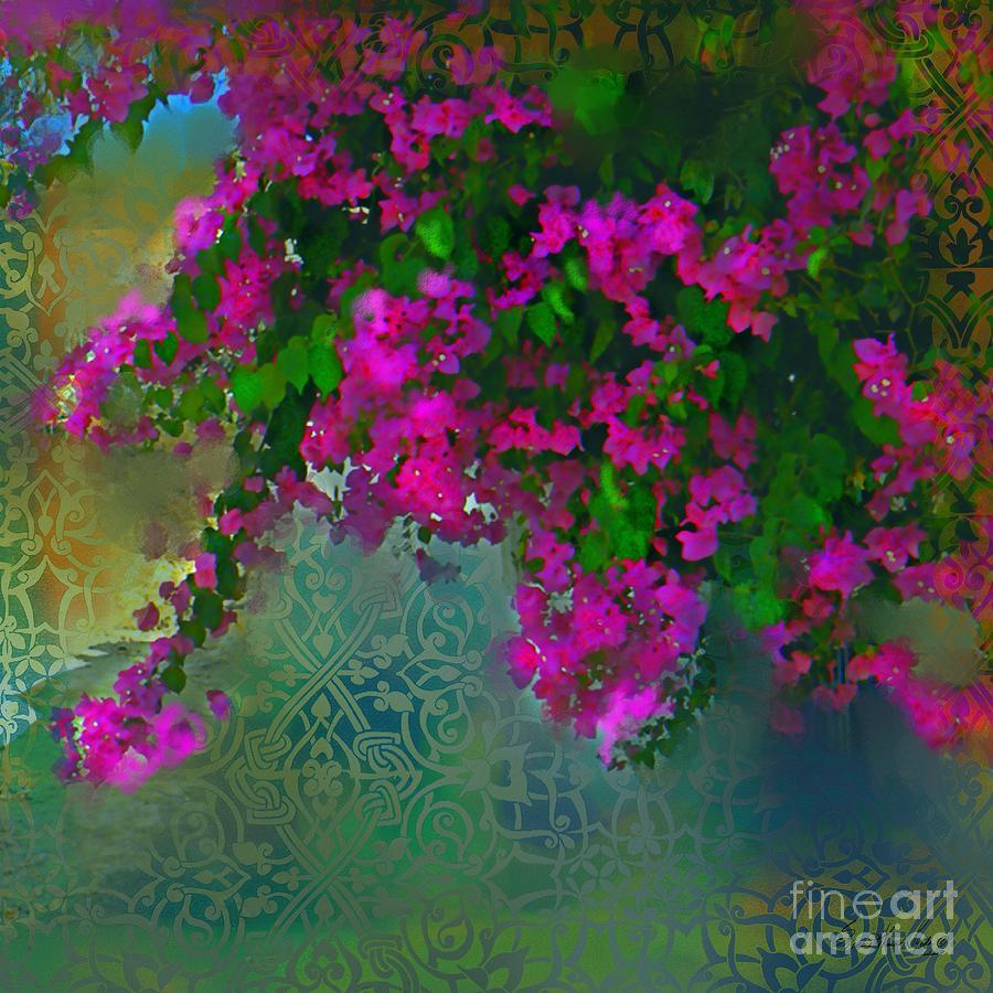 Garden Mixed Media - Bougainville Delight by Seema Sayyidah