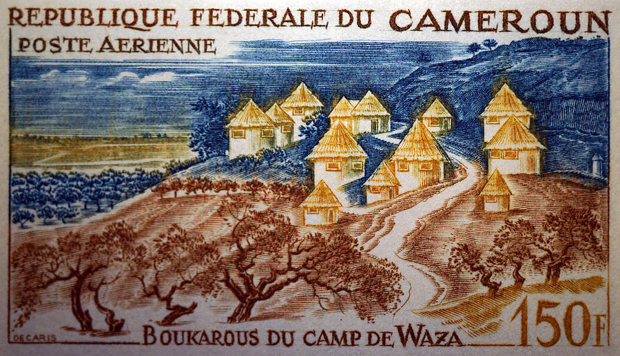 Postage Stamp Photograph - Boukarous Camp by Dennis Naumick