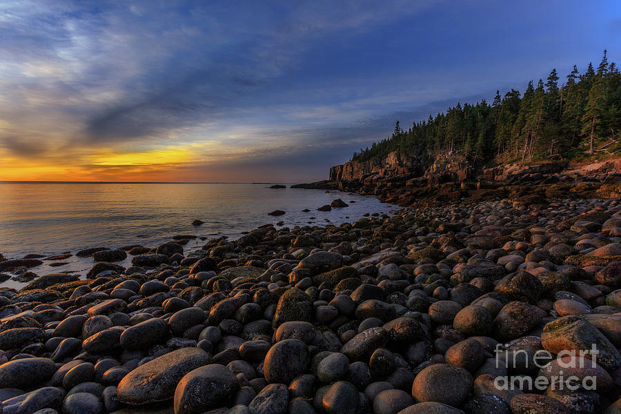 Acadia Photograph - Boulder Beach Sunrise by Jerry Fornarotto