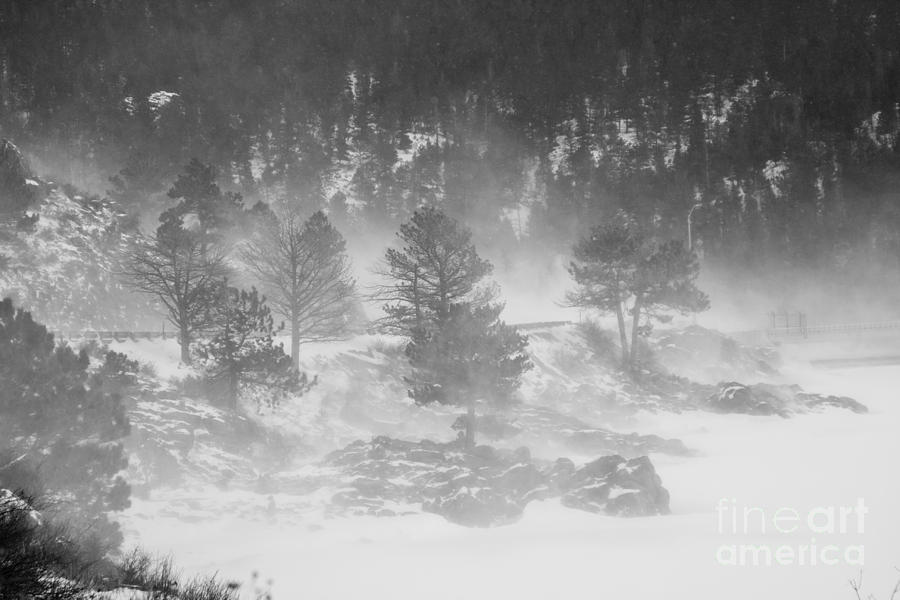Winter Photograph - Boulder Canyon And Nederland Winter Landscape by James BO  Insogna