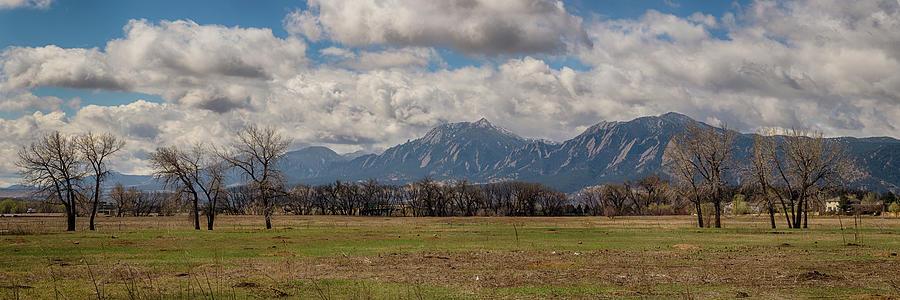 Boulder Colorado Front Range Panorama View Photograph