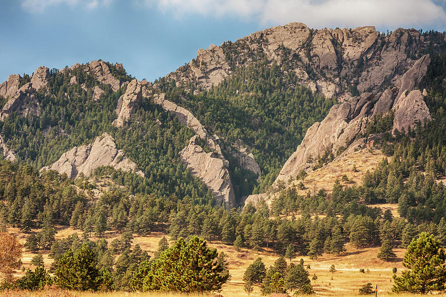 Boulder Colorado Rocky Mountain Foothills Photograph