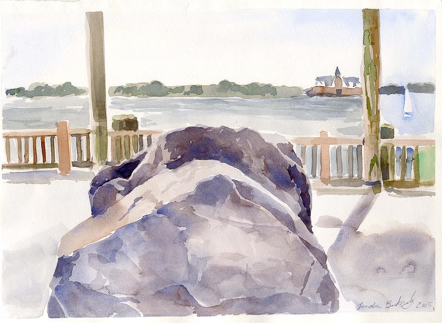 Paintings Painting - Boulder by Linda Berkowitz