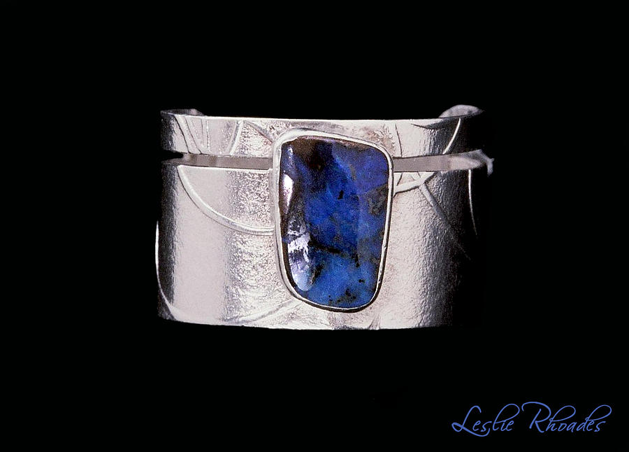 Leslie Rhoades Jewelry - Boulder Opal Silver Ring by Leslie Rhoades