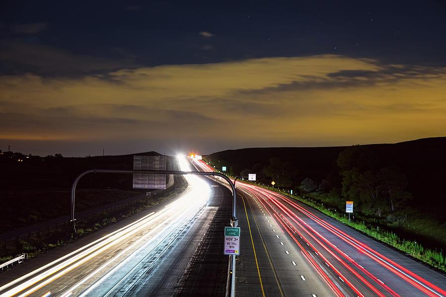 Highway Photograph - Boulder To Denver Highway 36 Express Lane by James BO Insogna