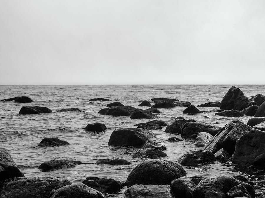 Rocks Photograph - Boulders In The Ocean by Trance Blackman