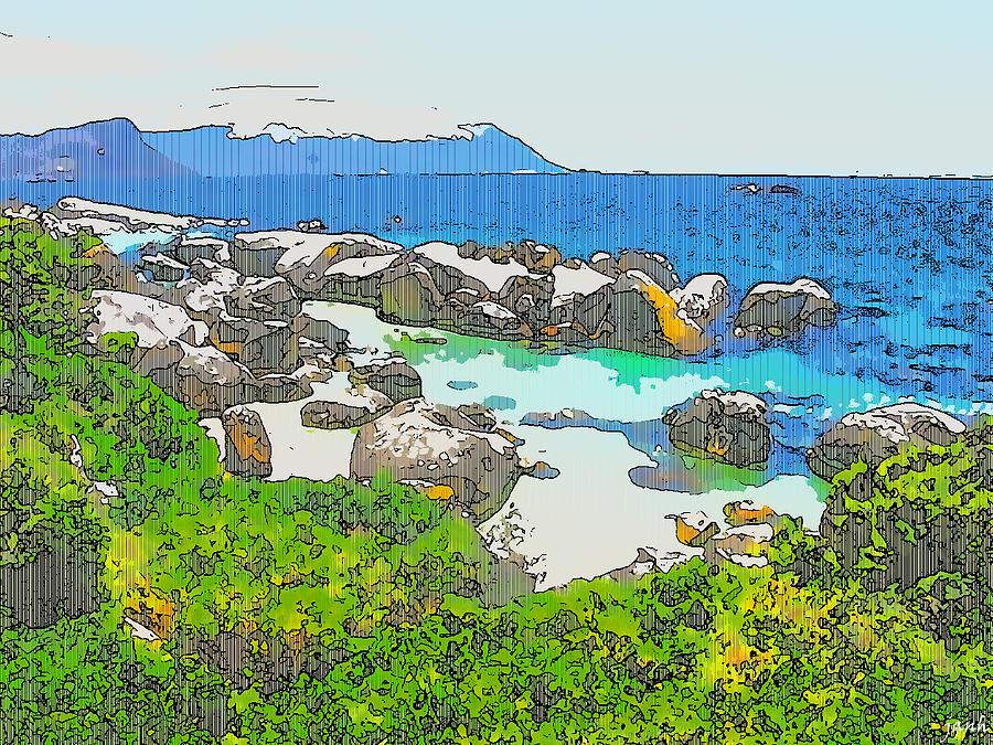 Sea Digital Art - Boulders by Jan Hattingh