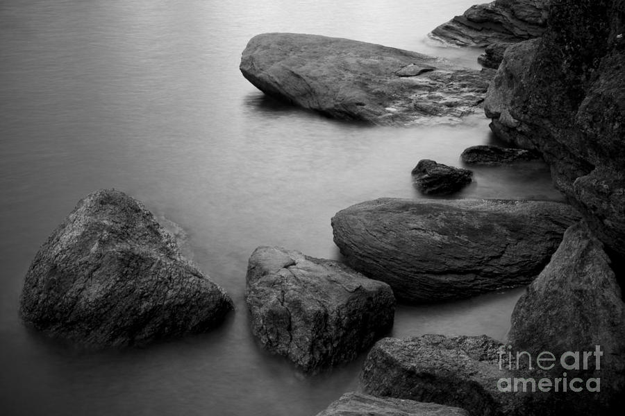Black And White Photograph - Boulders by Idaho Scenic Images Linda Lantzy
