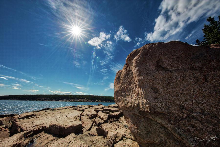 Boulders Meet Ocean by David A Lane