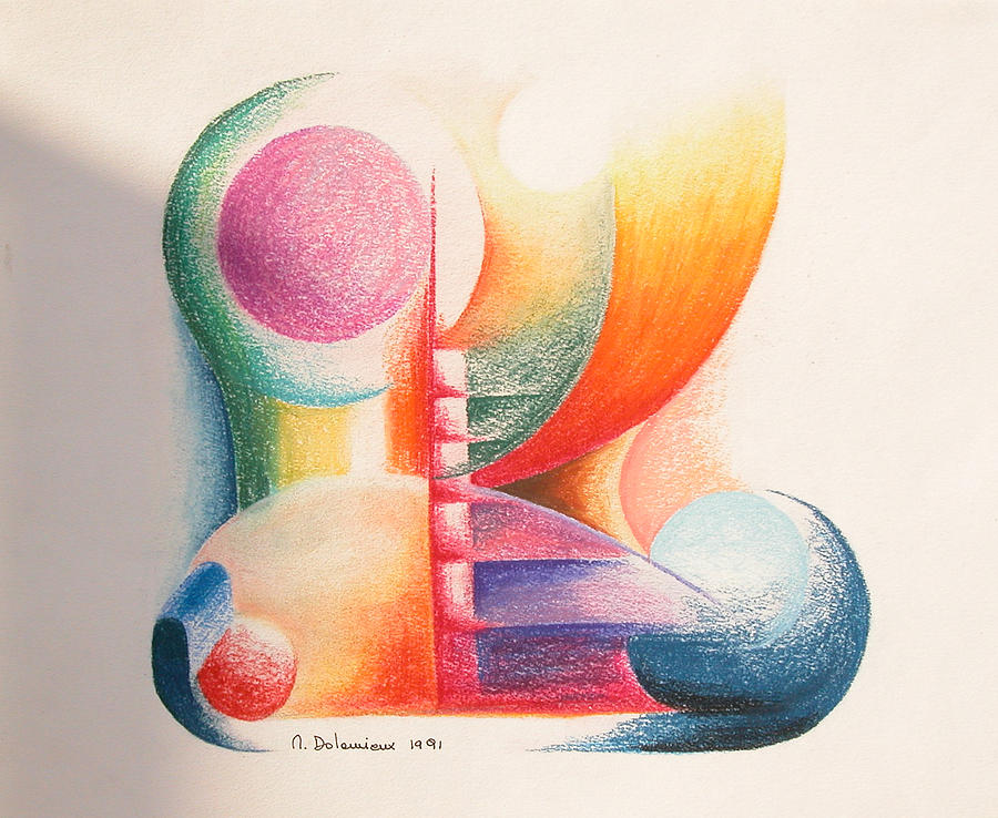 Abstract Drawing - Boulets by Muriel Dolemieux