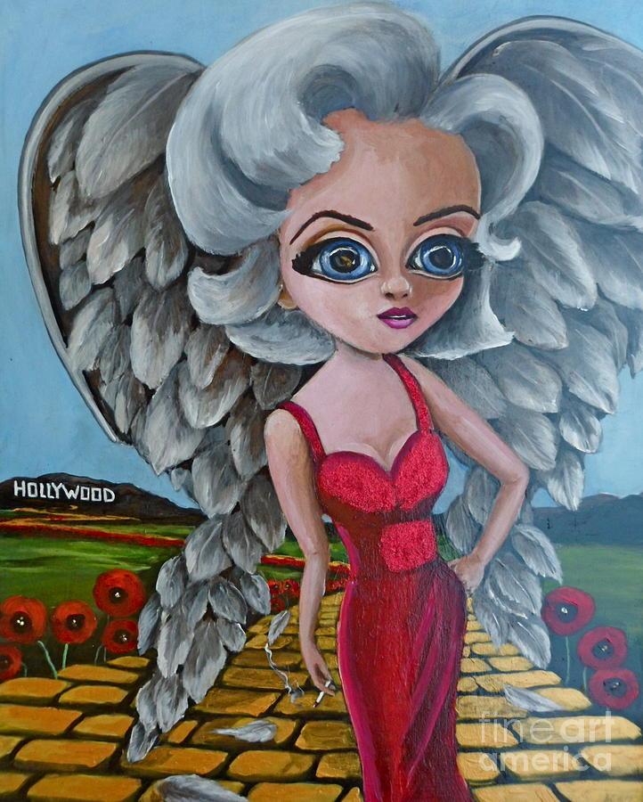 Marilyn Monroe Painting - Boulevard Of Broken Wings by Bonnie Diaz