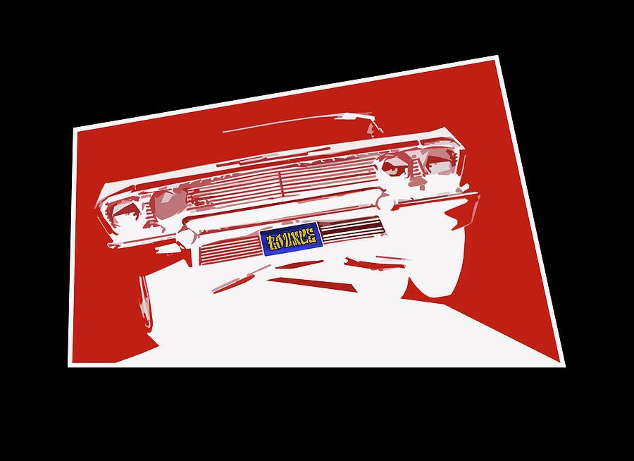 Lowrider Digital Art - Bounce. 63 Impala lowrider. by Colin Tresadern