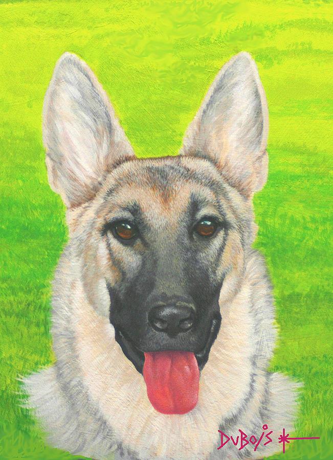 Dog Painting - Bouncer by Howard Dubois