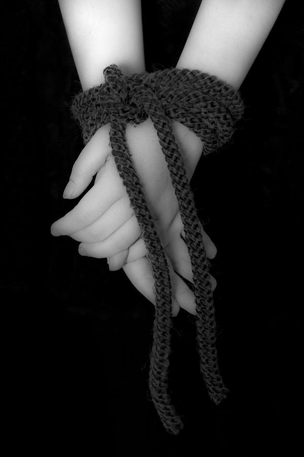 Hand Photograph - Bound Hands by Joana Kruse