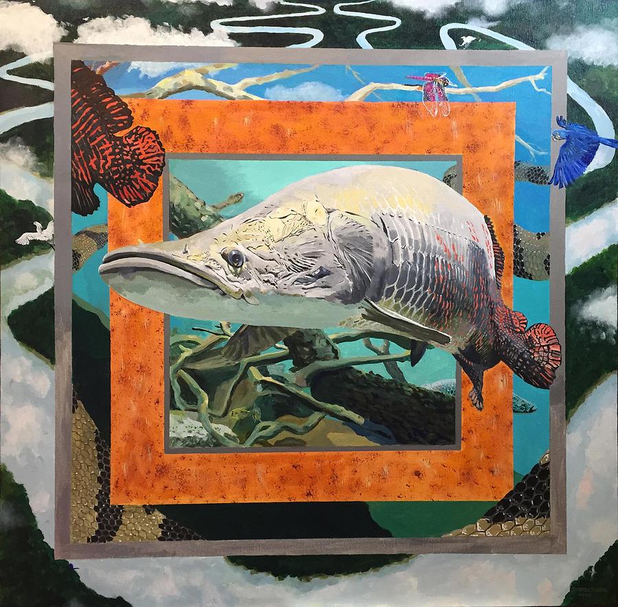 Arapaima Painting - Boundary Series Xv by Thomas Stead