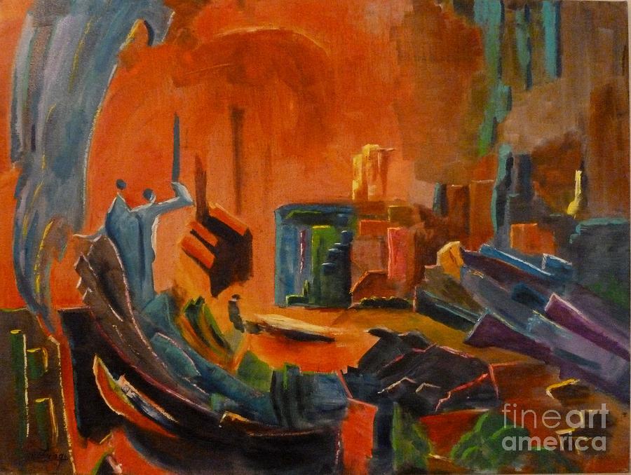 Abstract Painting - Enchanted by Ushangi Kumelashvili