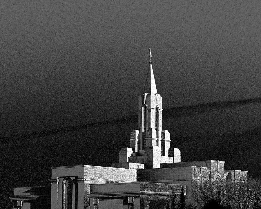Bountiful Utah Temple Photograph by Warren Cook cbe407564