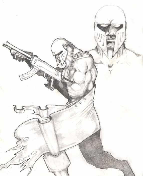 Bounty Hunter-concept2 Drawing by Kyle Adamache