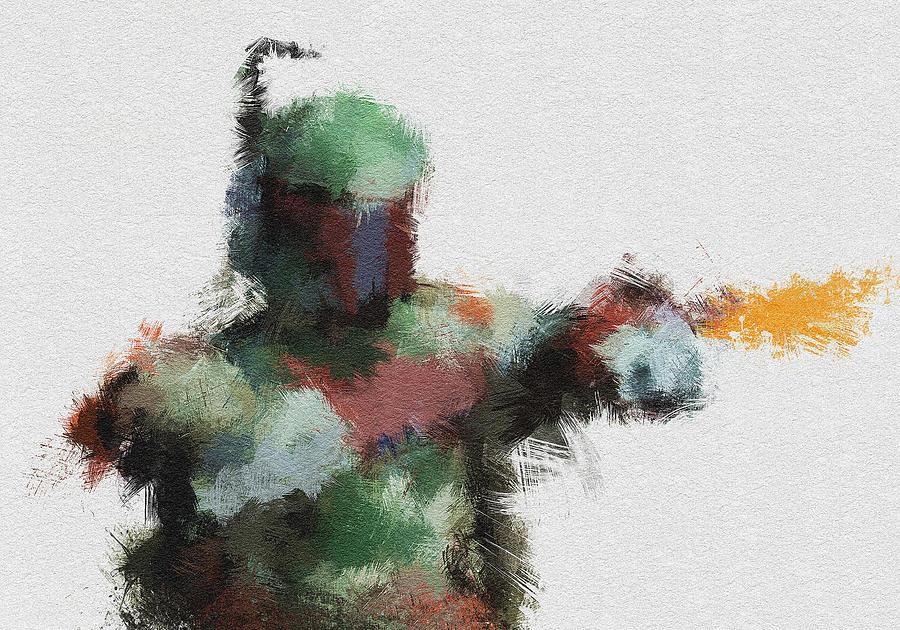 Boba Fett Painting - Bounty Hunter by Miranda Sether
