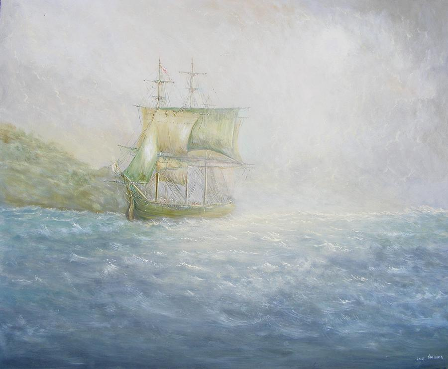 Ship Painting - Bounty by Ken Boot