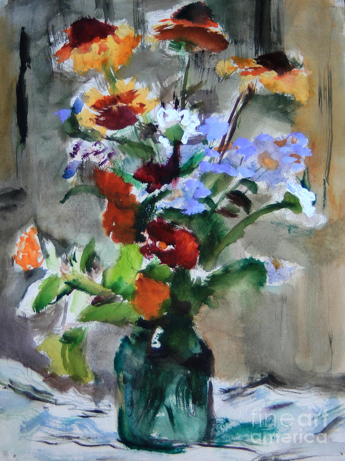 Bouquet Painting - Bouquet by Andrey Semionov