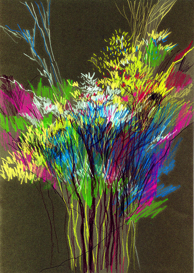 Flowers Painting - Bouquet by Anil Nene