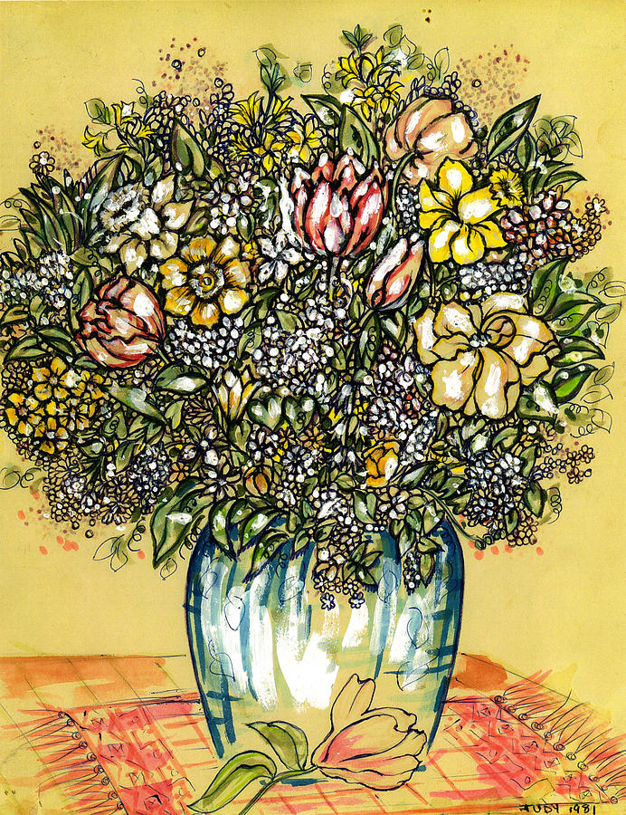 Bouquet For You Drawing by Judith Herbert