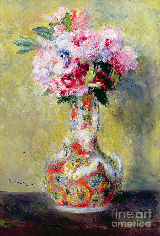 Still Life With Flowers Painting - Bouquet In A Vase by Pierre Auguste Renoir