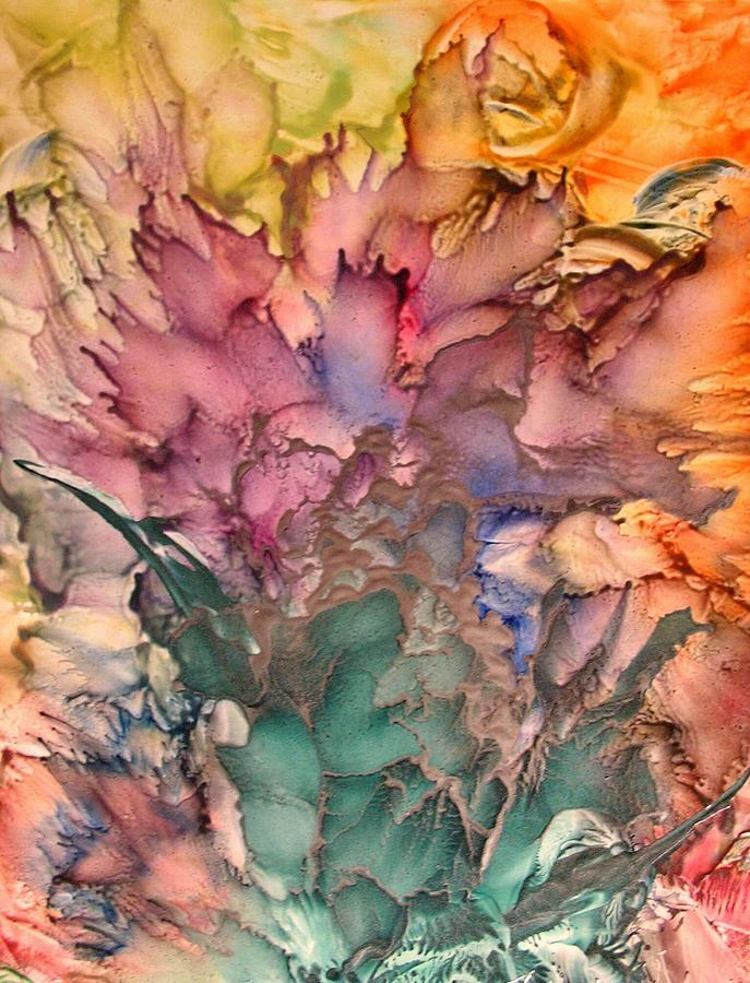 Abstract Painting - Bouquet by John Vandebrooke