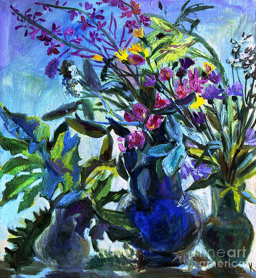 Flowers Painting - Bouquet by Katia Weyher