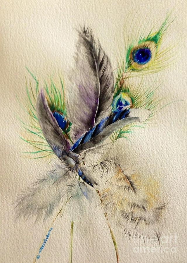 Feathers Painting - Bouquet by Laurel Adams