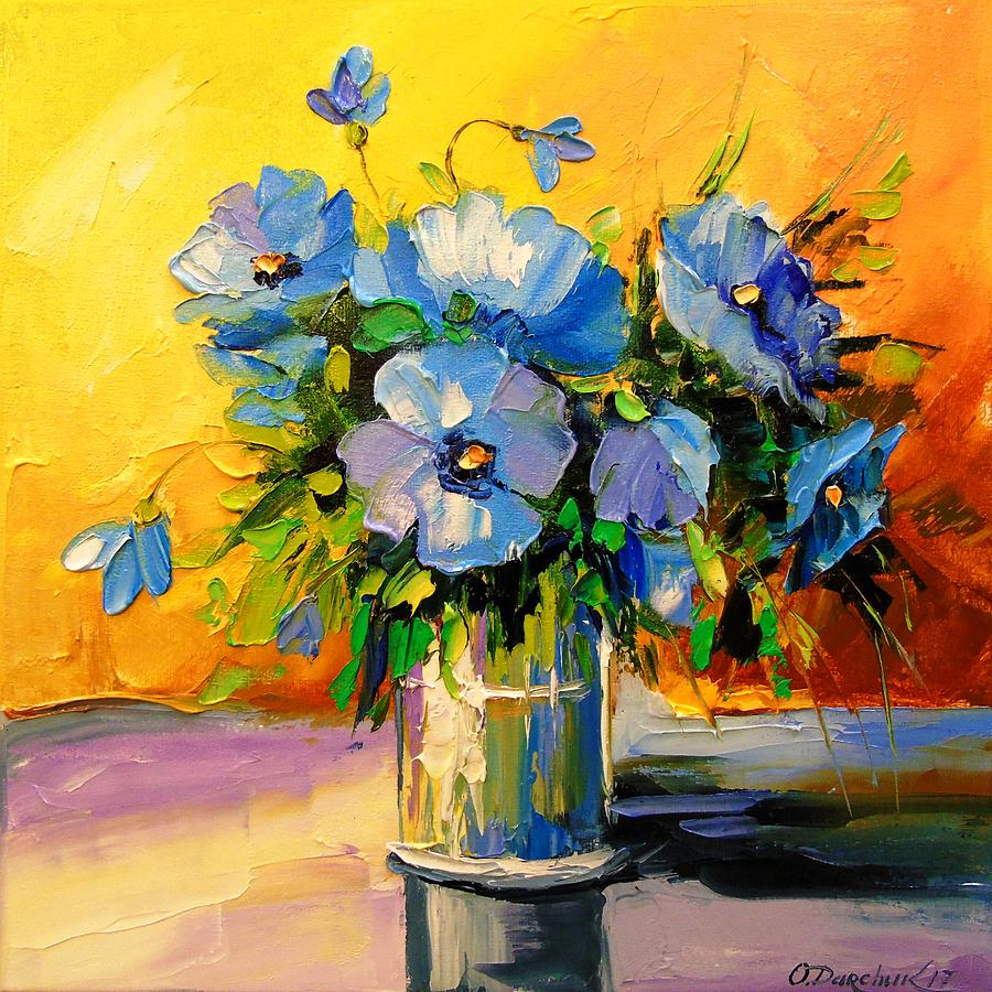 Bouquet of blue flowers painting by olha darchuk bouquet of blue flowers painting bouquet of blue flowers by olha darchuk izmirmasajfo