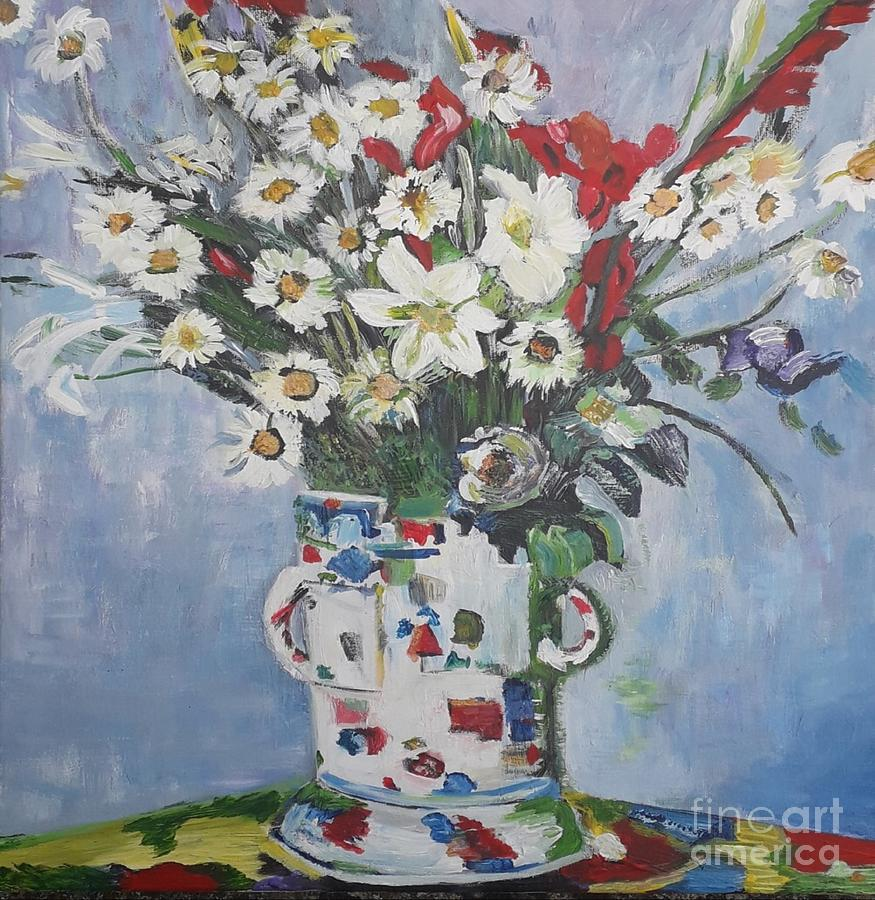 Vase Painting - Bouquet Of Dasies by Denise Morgan