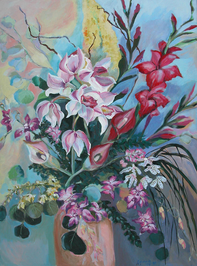 Bouquet Of Flowers Painting by Synnove Pettersen